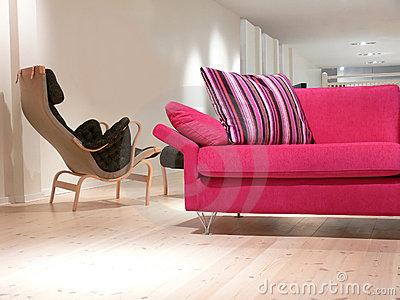 Pink Sofa and Chair