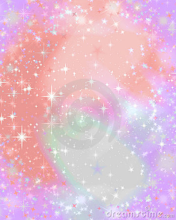 Pink sparkle starry background