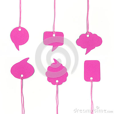 Pink speech bubble hanging