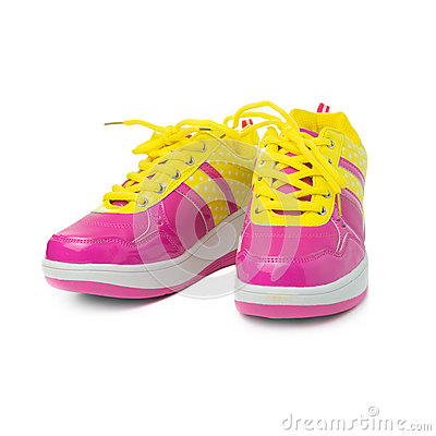 pink sport shoes stock photo image 65547346