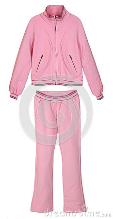 Pink sportive costume