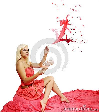 Pink spray