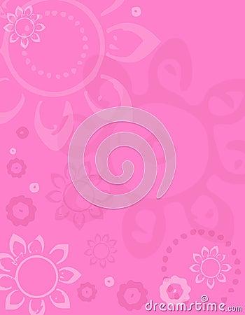 Pink Spring Artsy Flower Background