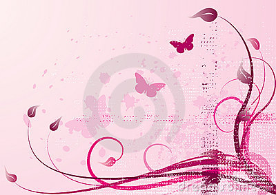 Pink-spring vector