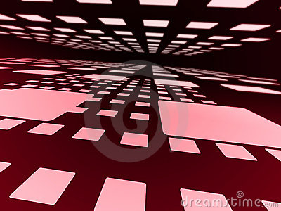 Pink squares.