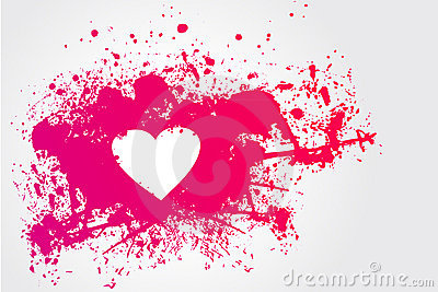 Pink stain and heart