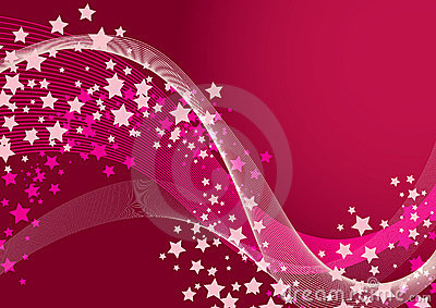 Pink Star Background