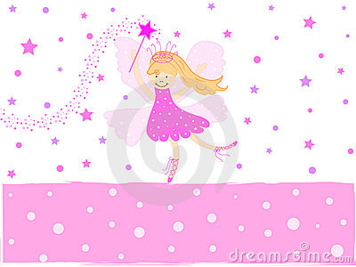 Pink star fairy