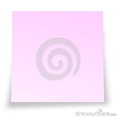 Pink sticky notelet
