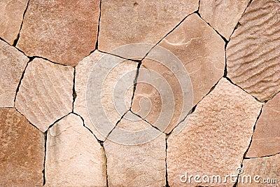 Pink stone wall