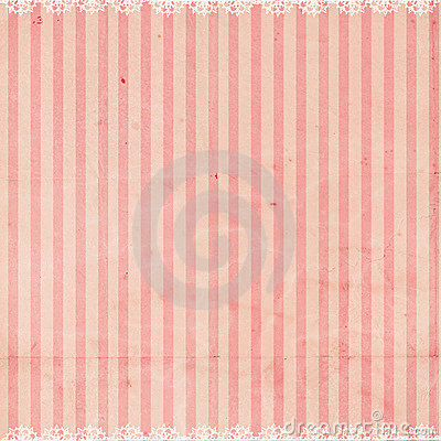 Free Pink Striped Background With Lace Trim Royalty Free Stock Photo - 12350335