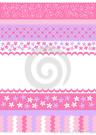 Pink Stripes Invitation Card Stock Photos - Image: 26698303