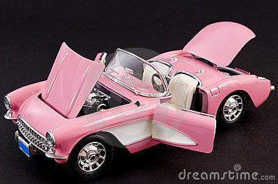 Pink stylish classic sports car