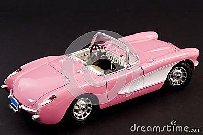 Pink stylish classic sports car
