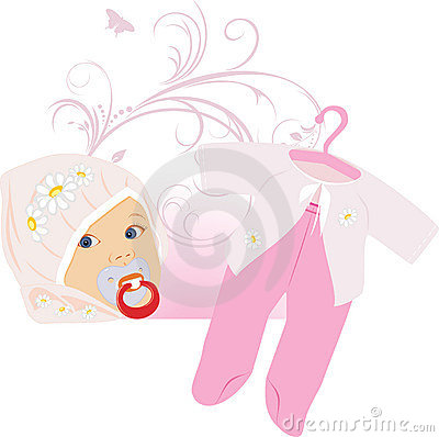 Pink suit for a baby girl