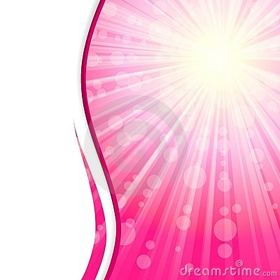 Pink sunshine banner with transparencies