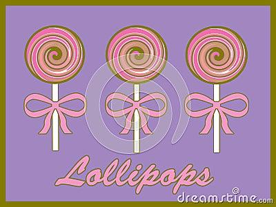 Pink swirly lollipops