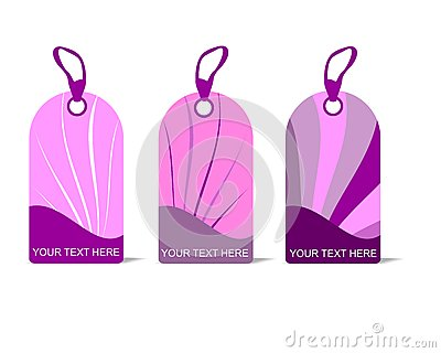 Pink tags, cdr vector