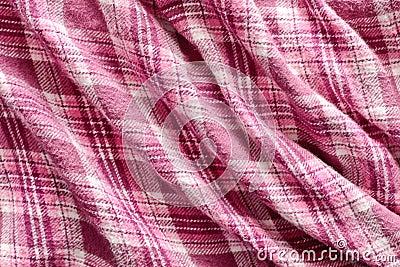 Pink tartan cloth