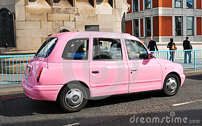 Pink taxi Editorial Image