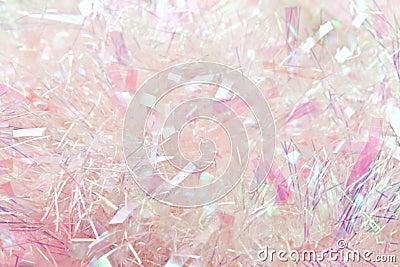 Pink tinsel