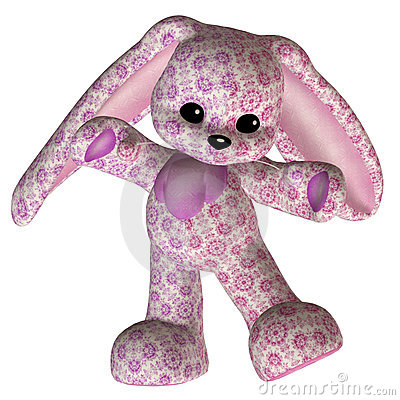 Pink toy rabbit