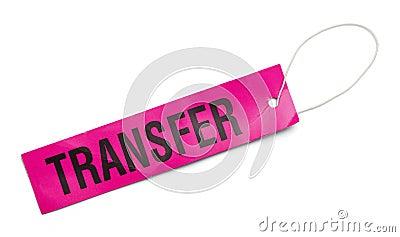 Pink Transfer Tag