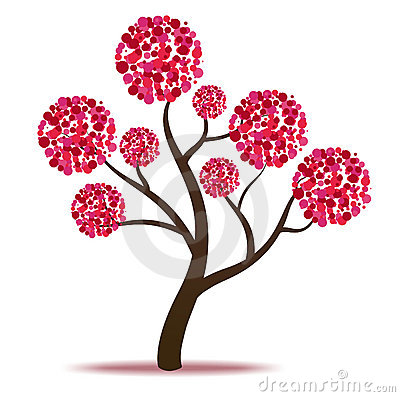 Free Pink Tree - Vector Royalty Free Stock Photos - 23134958