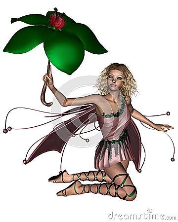 Pink Umbrella Fairy - 3