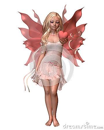 Pink Valentine Fairy - 1