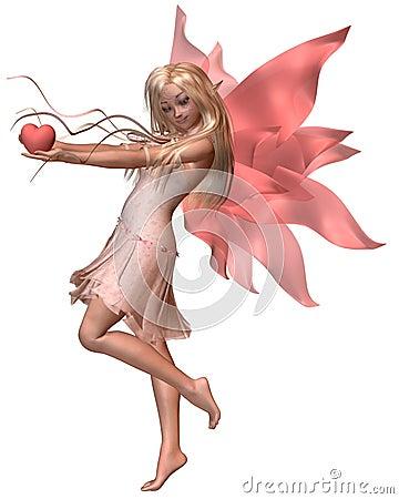 Pink Valentine Fairy - 2