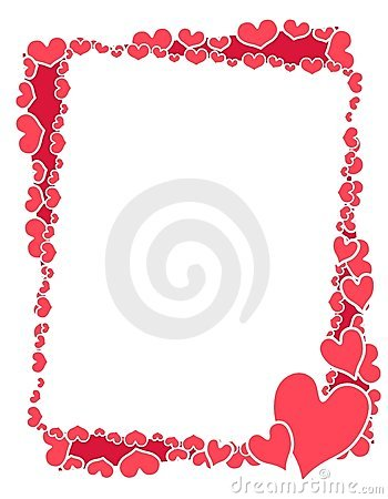 Pink Valentine Hearts Frame or Border