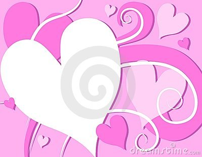 Pink Valentine s Day Hearts Swirls