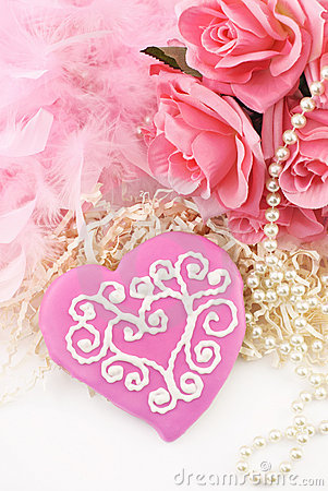 Valentines Cookies on Free Stock Photography  Pink Valentines Cookie  Image  18264707