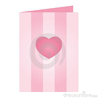 Pink Valentines Day Card