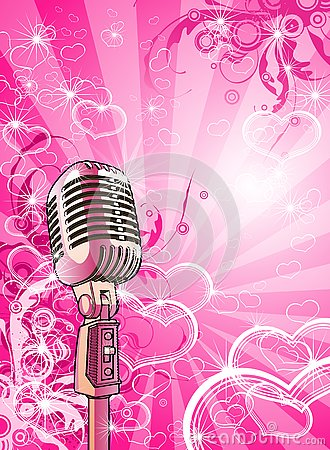 Free Pink Valentines Microphone Royalty Free Stock Photos - 4047928