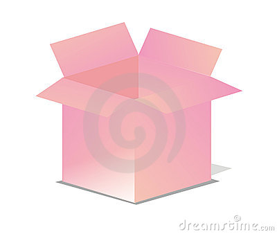 Pink Vector Open Box