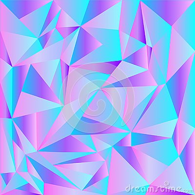 Light Pink, Blue vector shining triangular backdrop. A completely new color illustration in a polygonal style. A completely new te Cartoon Illustration
