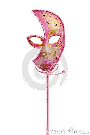 Free Pink Venetian Mask Stock Image - 10352191