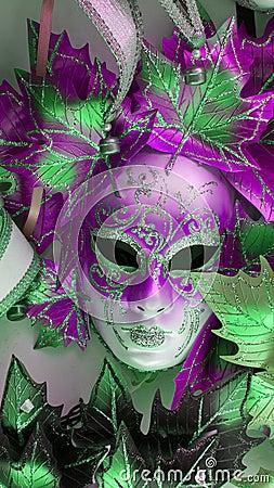 Free Pink Venitian Carnival Mask Royalty Free Stock Photo - 113053235