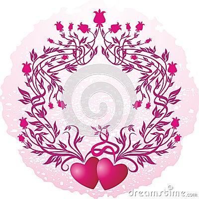 Pink vignette