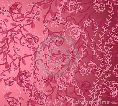 Pink Vine Background Pattern