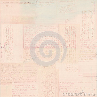 Pink vintage postcard text ephemera background