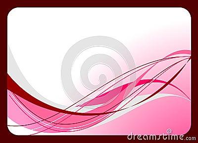 Pink visit card