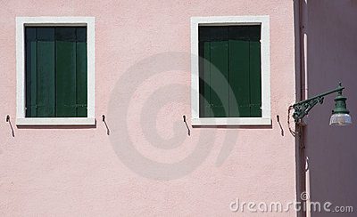 Pink Wall with Windows