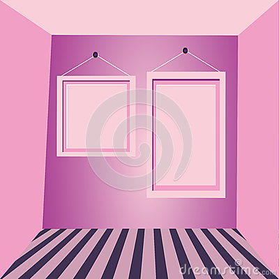 Pink walls and pink frames