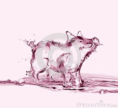 Free Pink Water Pig Stock Images - 134215774