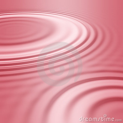Pink water ripples or waves