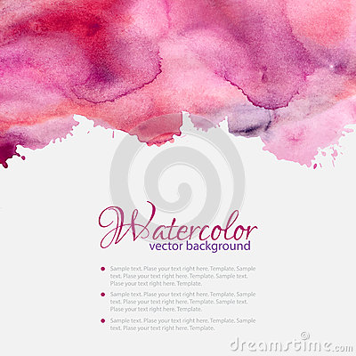 Free Pink Watercolor Blots Pattern Top Frame Royalty Free Stock Photo - 42110225