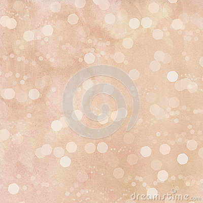 Pink watercolor bokeh spots background